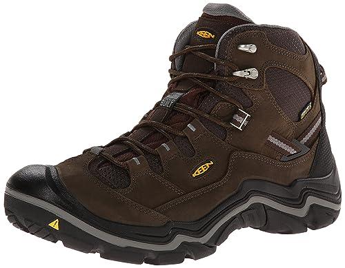 KEEN Men's Durand Mid WP Wide Outdoor Boot, Cascade Brown/Gargoyle, 7 W US