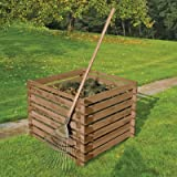 Composter di legno 90 x 90 cm 380 litro