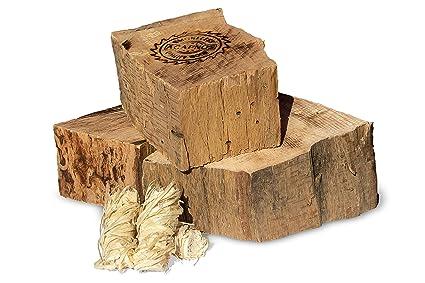 Acapnos - Leña para chimenea (10 kg, madera de haya, discos ...