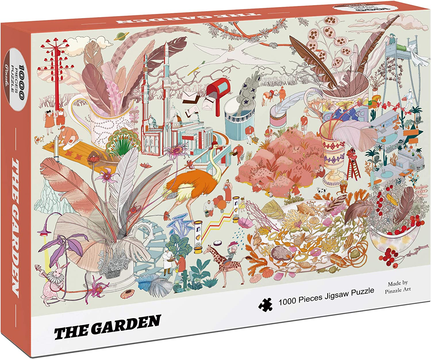 Pinzzle Art - The Garden 1000 Pieces Premium Jigsaw Puzzles, Large Size Difficult Plant Puzzles (70 x 50) for Adult …