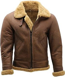 A to Z Leather para Hombre de Brown Aviador B3 Piel de Oveja ...
