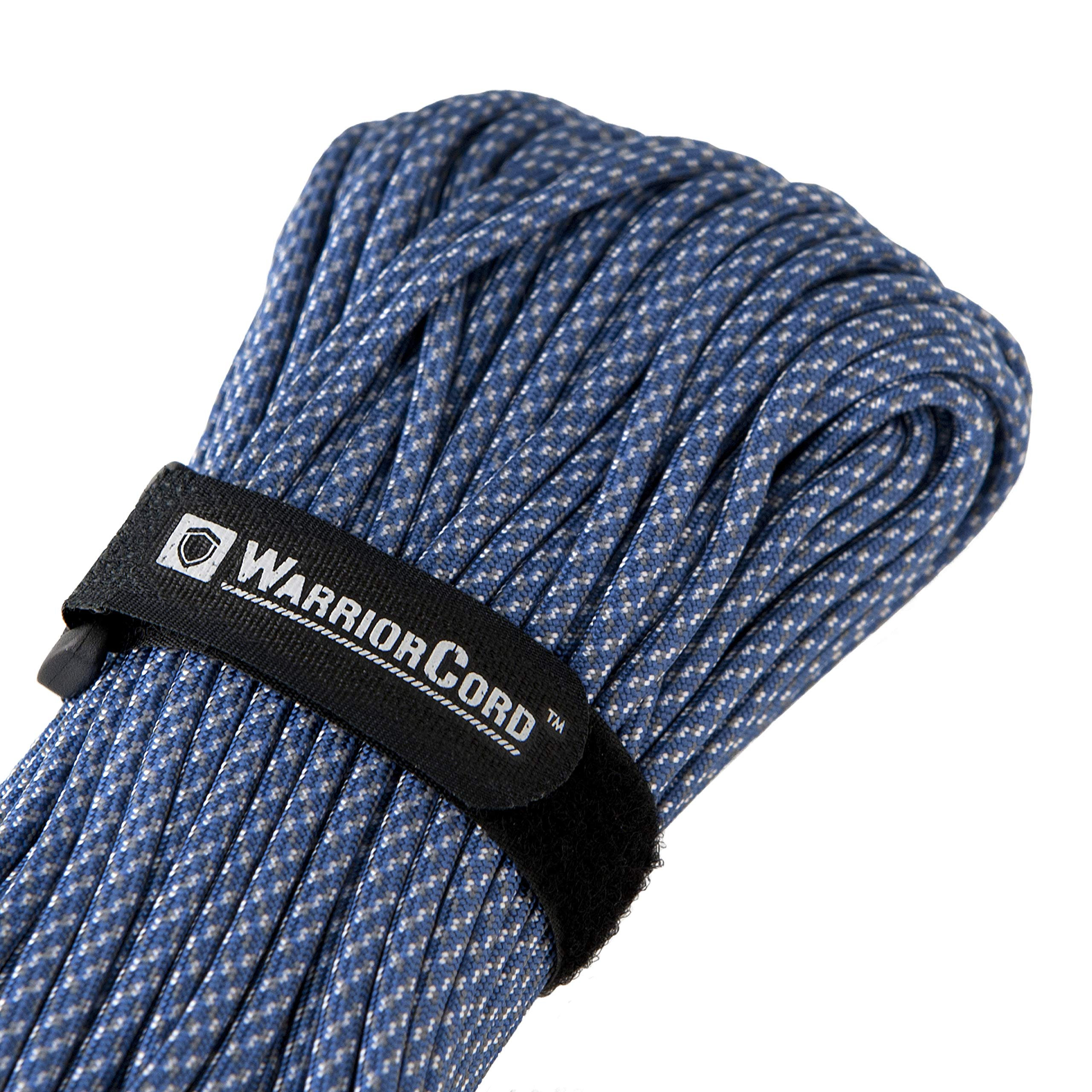 Titan WarriorCord | DIGI-Blue | 103 Continuous FEET | Exceeds Authentic MIL-C-5040, Type III 550 Paracord Standards. 7 Strand, 5/32'' (4mm) Diameter, Military Parachute Cord.