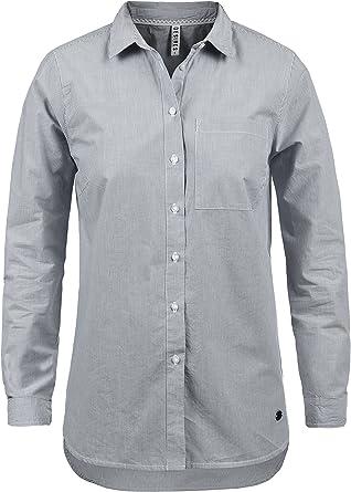 Desires Drina Blusa Camisa Mangas Largas para Mujer con Rayada De 100% Algodón Business Look Loose- Fit: Amazon.es: Ropa y accesorios
