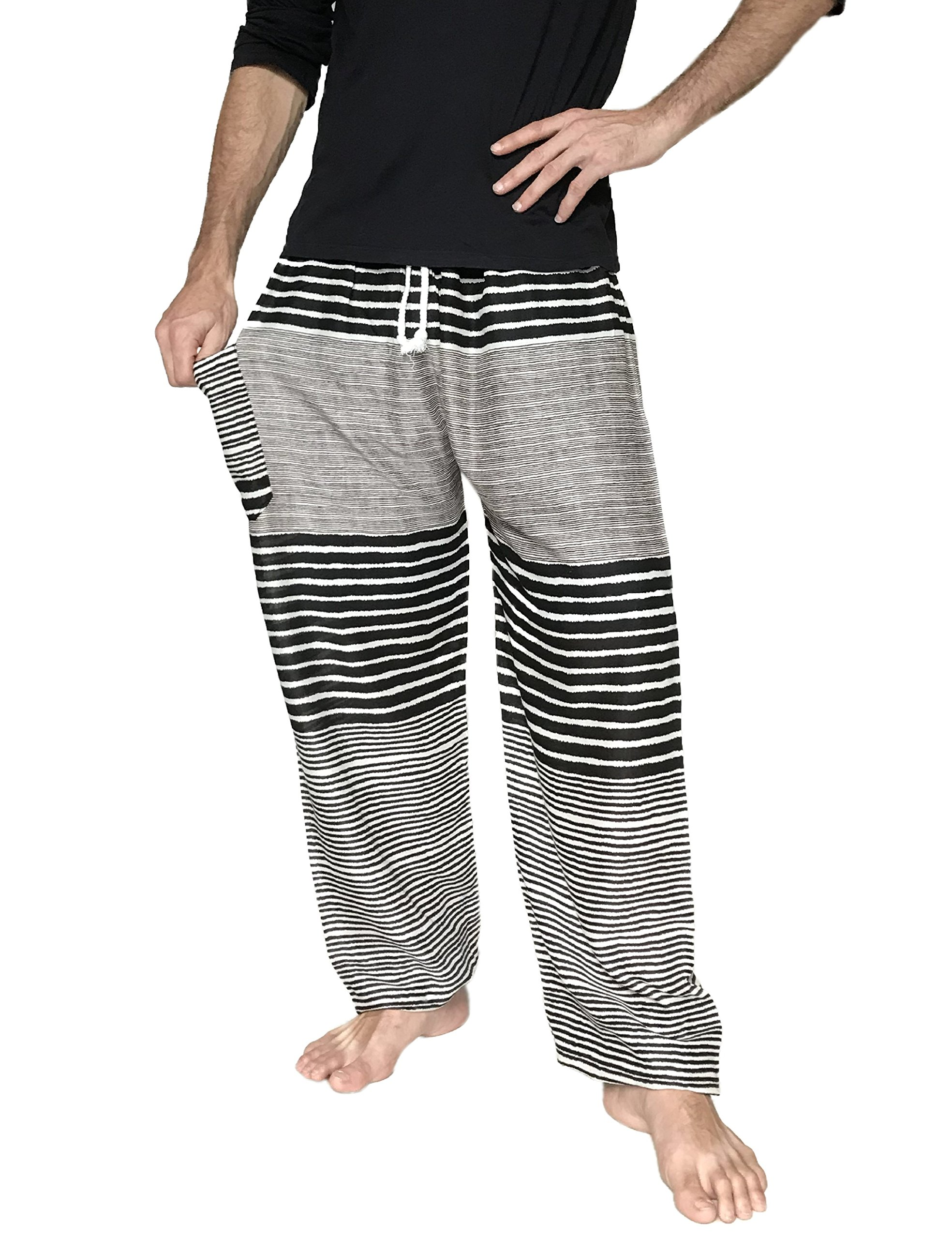 Love Quality Men's Beach Surf Pants (Black)