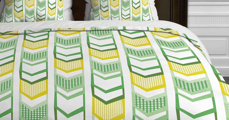 Deny Designs Heather Dutton Right Direction Lemon Lime Duvet Cover Queen