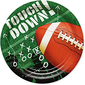 American Greetings Football Party Supplies, Round Paper Dinner Plates (50-Count)