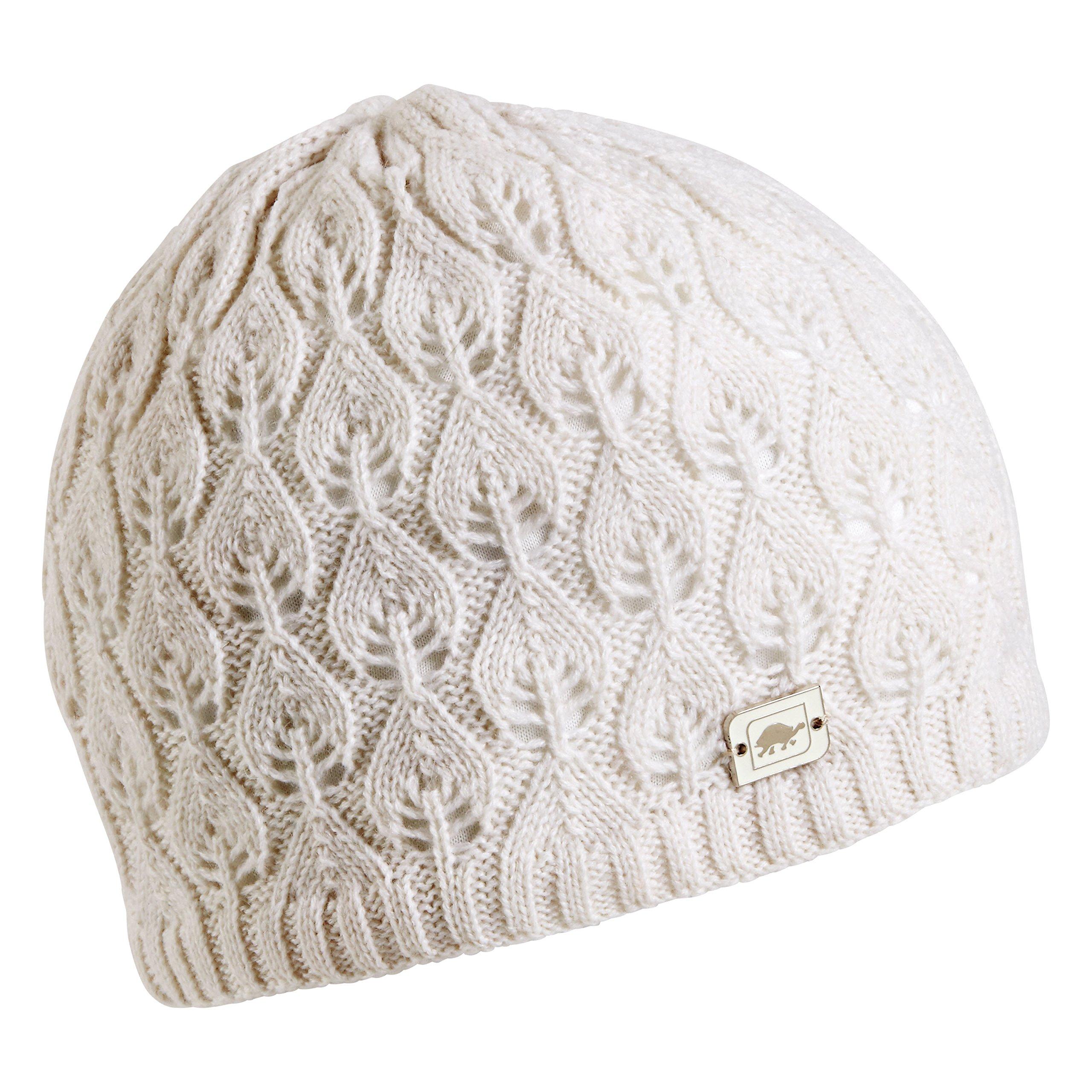 Turtle Fur Women's Aspen, Fleece Lined Merino Wool Knit Beanie, White