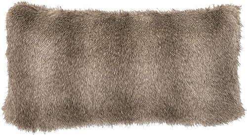Wooded River Cape Grey Fox Faux Fur Pillow