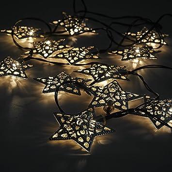 12 x star moroccan solar power string lanterns led fairy lights 12 x star moroccan solar power string lanterns led fairy lights outdoor aloadofball Choice Image