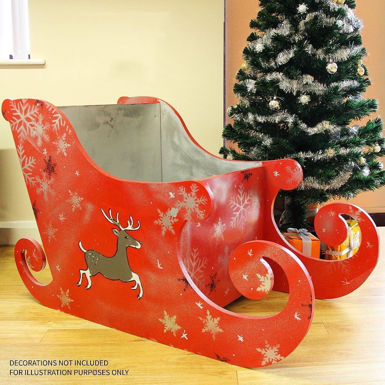 Slitta Di Babbo Natale Fai Da Te.Monster Shop Slitta Di Babbo Natale Per Natale 120cm Semplice