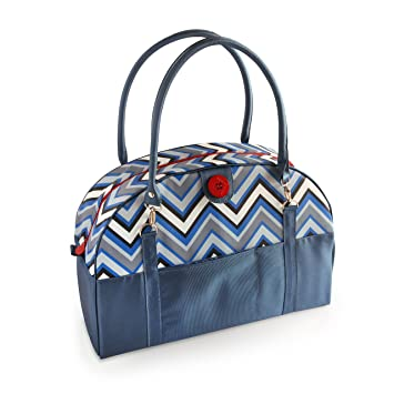 Amazon 2 Red Hens Coop Carry All Diaper Bag Blue Chevron