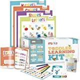 merka Toddler Learning Kit - Includes 4 Posters, 58 Flashcards, 58 Practice Book Exercises and 36 Reward Stickers - Learn Letters, Colors, Shapes and Numbers - PreK & K