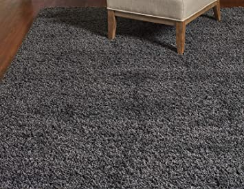 Gertmenian True Shags Platinum Label Gray Shag Rug 9x12 Soft Olefin Yarn 2 Inch In Luxury Charcoal Solid Color Area Rugs