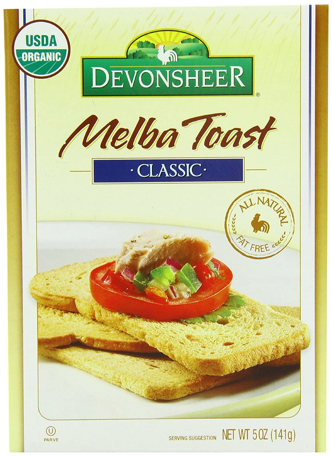 Amazon Devonsheer Melba Toast Classic Unsalted 5 Ounce Pack Of 12