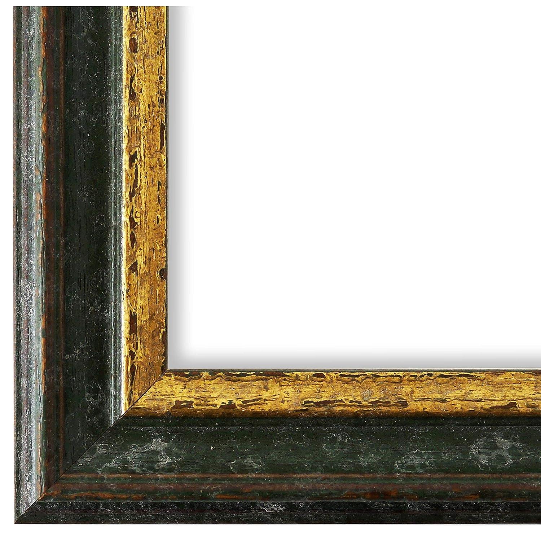 Online Galerie Bingold Bilderrahmen Grün Gold 40x60-40 x 60 cm - Antik, Barock, Vintage - Alle Größen - Handgefertigt in Deutschland - LR - Forli 3,7