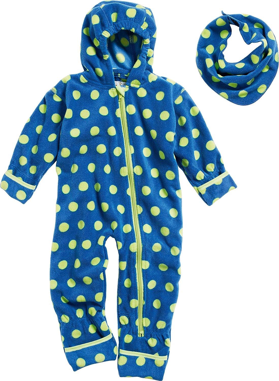 Playshoes Unisex Baby Overall Punkte und Fleece Dreickstuch Bekleidungsset