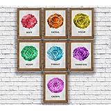 Amazon.com: Set of Four 12x12 Yoga Poster Art Prints Namaste ...