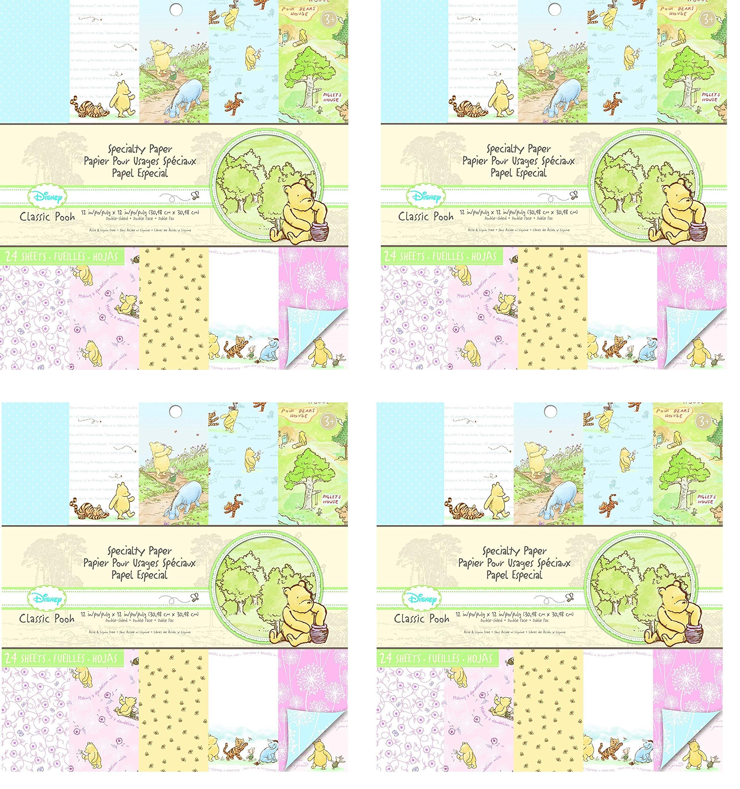 EK Success Brands Disney Specialty Paper Pad, Classic Pooh (Fоur Расk)