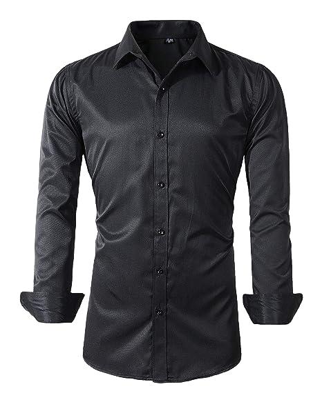 Amazon.com: Camisas de vestir de manga larga para hombre ...