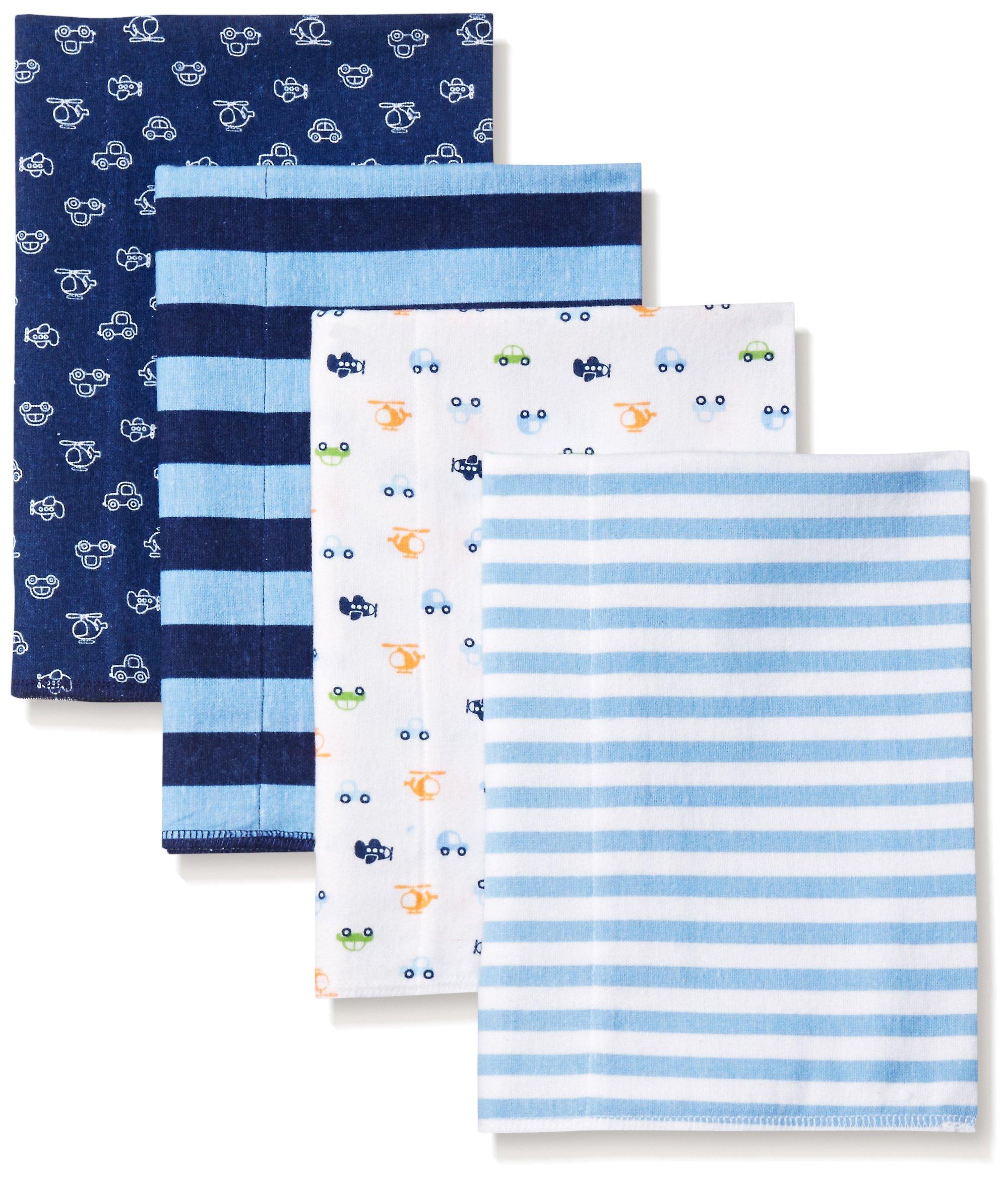 Gerber Baby Boys' 4 Pack Flannel Burp