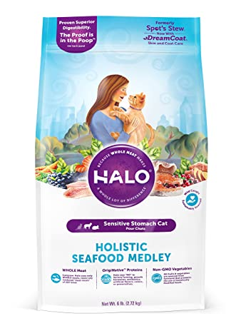 Halo Holistic Dry Cat Food For Sensitive Stomachs Seafood Medley 6