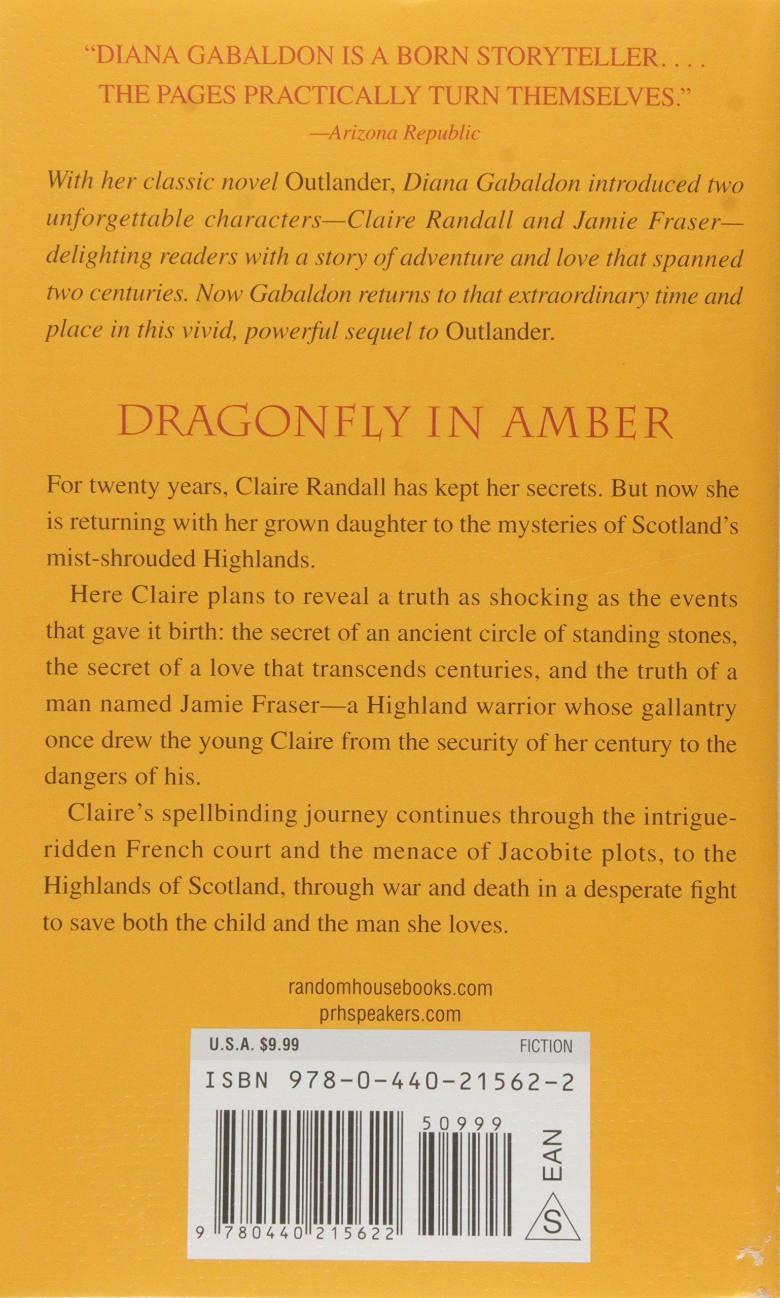 Dragonfly In Amber A Novel Outlander Diana Gabaldon