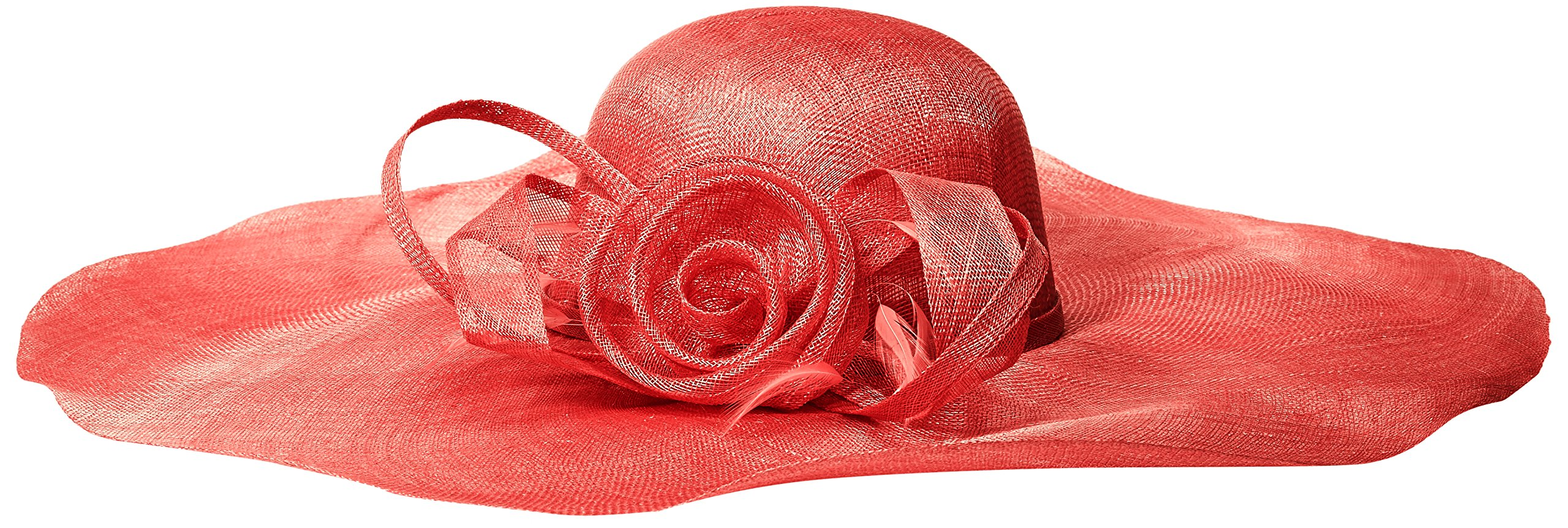 Scala Women's Big Brim Sinamay With Loops, Red, One Size