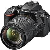 Nikon D5500 + Nikkor 18-140 VR Fotocamera Reflex Digitale, 24,2 Megapixel, LCD Touchscreen regolabile, Wi-Fi incorporato, SD 8GB 200x Premium Lexar, colore: nero [Nital card: 4 anni di garanzia]