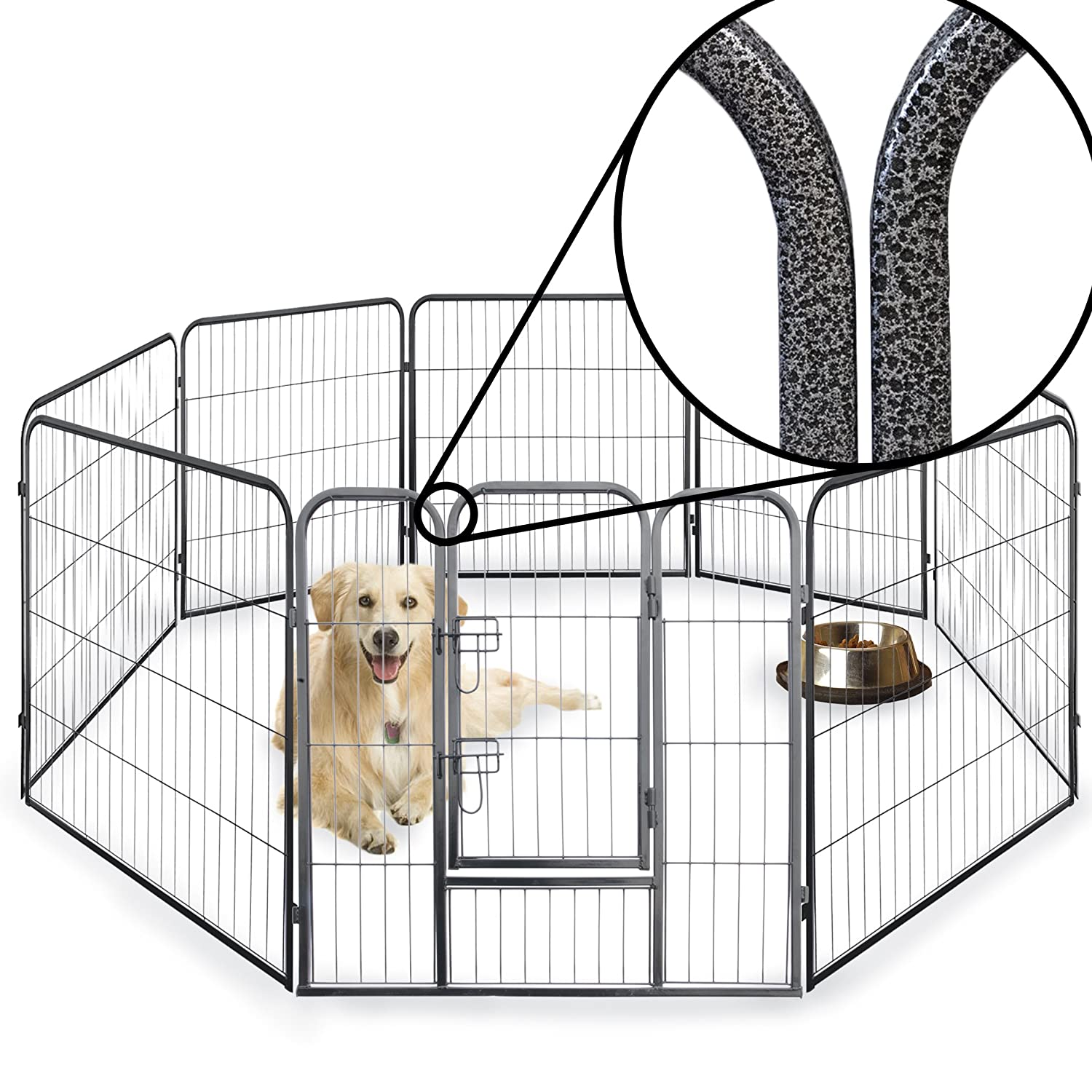 8 Side 60cm Tall Heavy Duty Strong Pet Whelping Playpen Dog Puppy ...