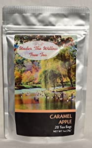 Caramel Apple 20 Tea Bags in Resealable Foil Pouch for Freashness
