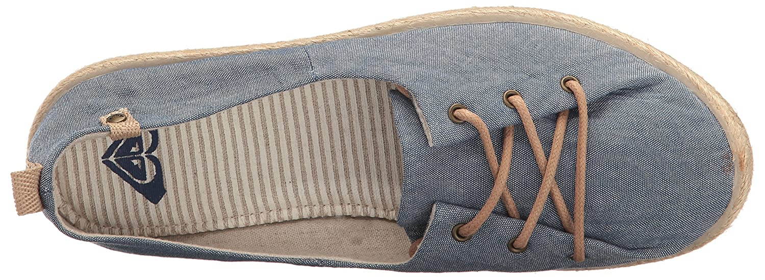 Roxy Women's Flamenco Lace up Shoe Flat B01GOMG73Q 6 B(M) US|Chambray
