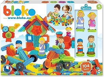 BLOKO 503627 - Caja de 100 4 Figuras 3D de la Familia, a Partir de 12 Meses, Fabricado en Europa, Juguete de construcción: Amazon.es: Juguetes y juegos
