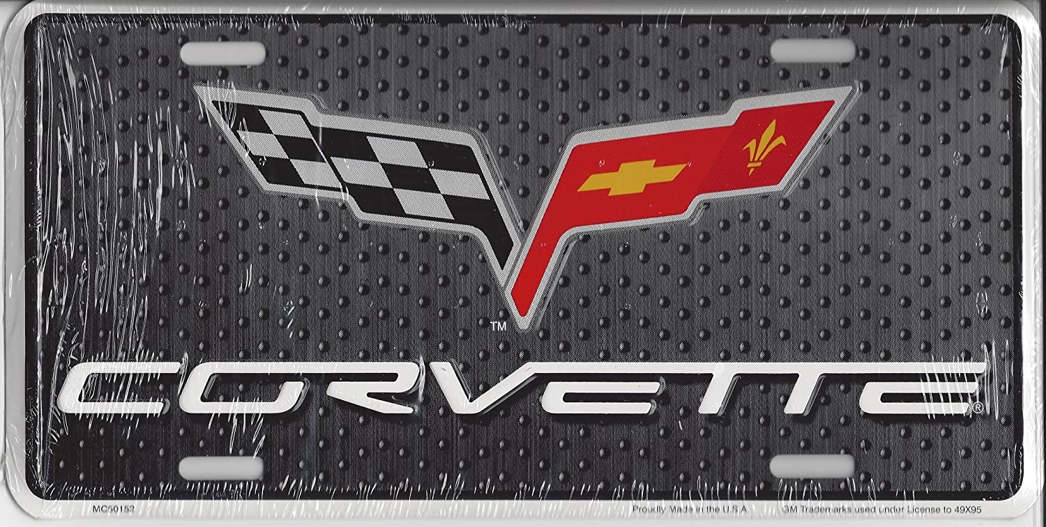 Corvette Novetly Front License Plate 6x12 Metal Car Tag Tag City