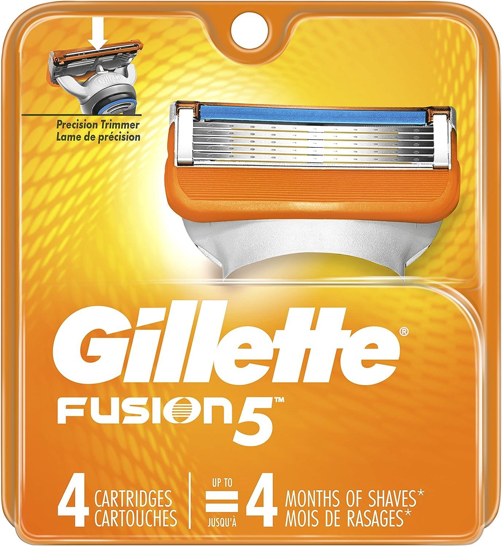 Gillette Fusion5 Men's Razor Blades, 4 Blade Refills
