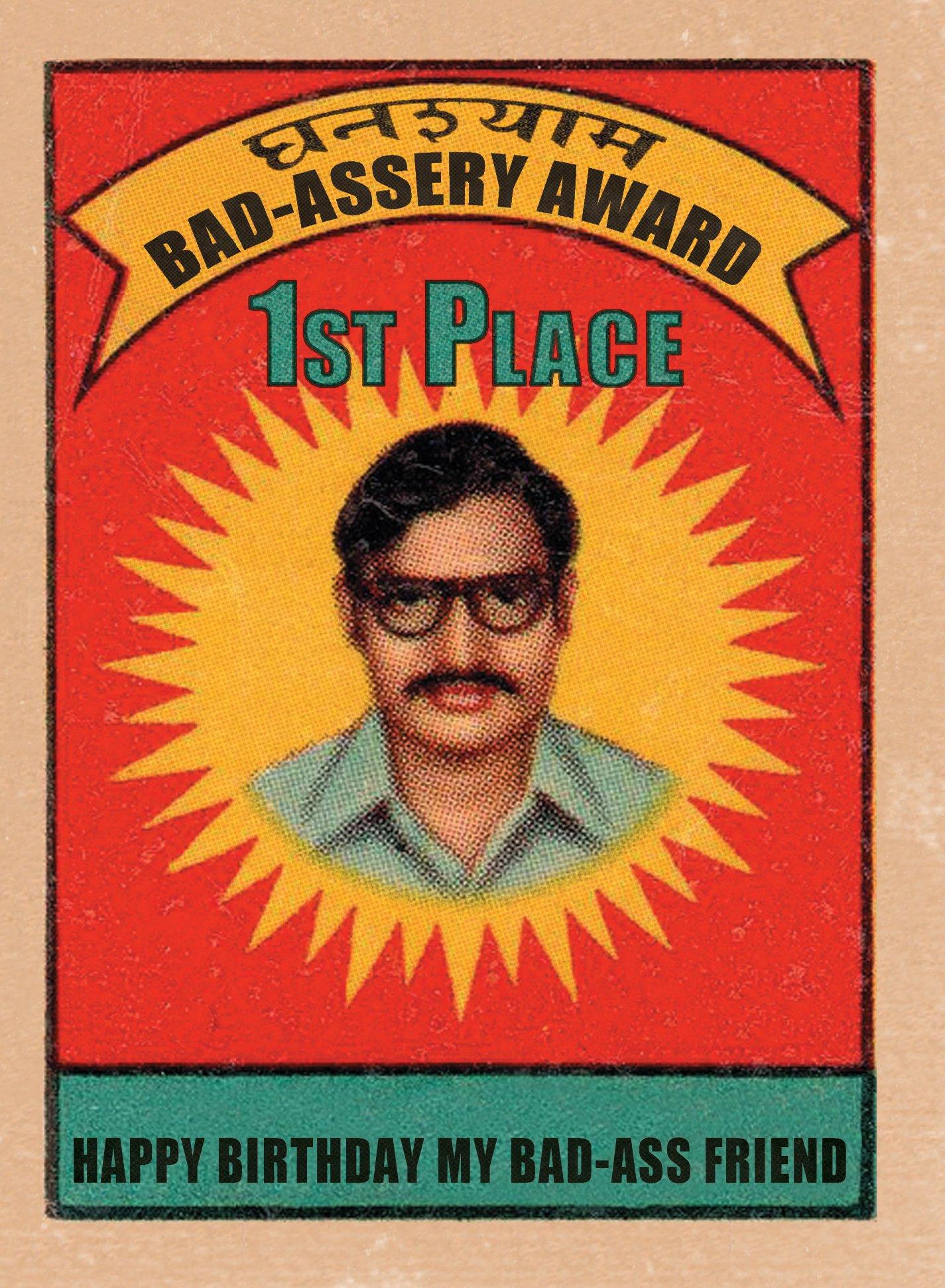 Bad -Assery Award - Hooligan Ruth Happy Birthday Greeting Card pdf epub