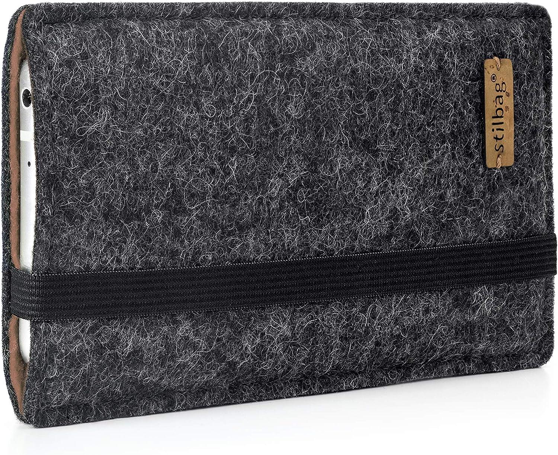 stilbag Funda de Fieltro Finn para LG G8s ThinQ Made in Germany Cubierta para m/óvil Bolsa de Fieltro para Smartphone Color: Antracita//marr/ón