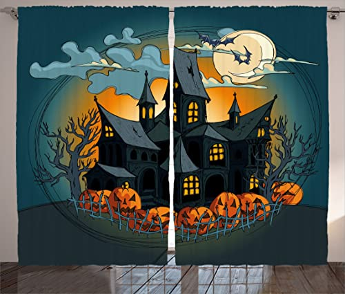 Ambesonne Halloween Curtain