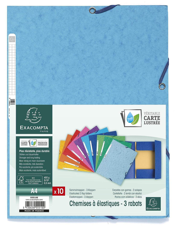 Exacompta Europa Cartelletta A4 24 x 32 pacco da 10 blu