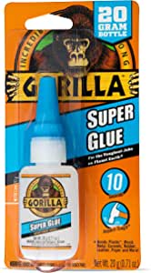 Gorilla Super Glue, 20 Gram, Clear, (Pack of 1)