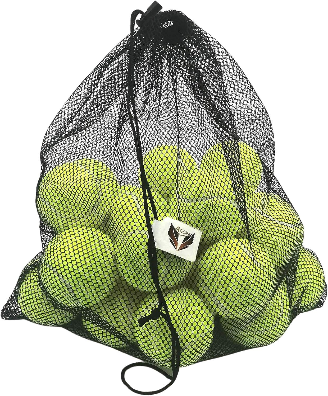 Pack, 24 Pelotas de Tenis Flexible con Bolsa de Mall de Transporte, Frontenis, para Principiantes o semiprofesionales, para Adultos y niños,Adecuado para los Perros ya Que no es tóxico, tennis maquina