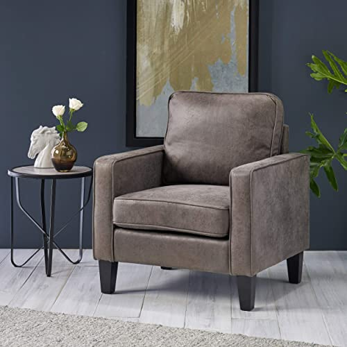 Elizabeth Contemporary Microfiber Club Chair