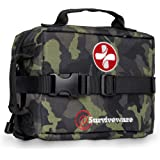 Surviveware Survival First Aid Kit for Outdoor Preparedness - Comes with Removable MOLLE Compatible System and Labeled Compar
