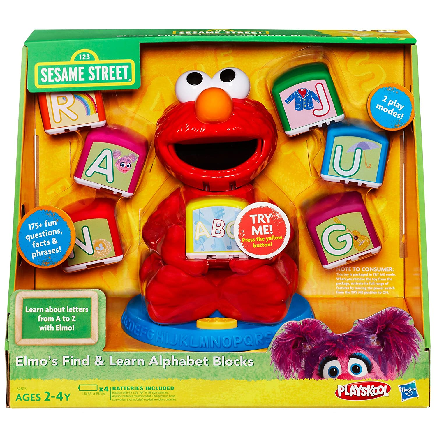 Amazon Sesame Street Elmo s Find & Learn Alphabet Blocks