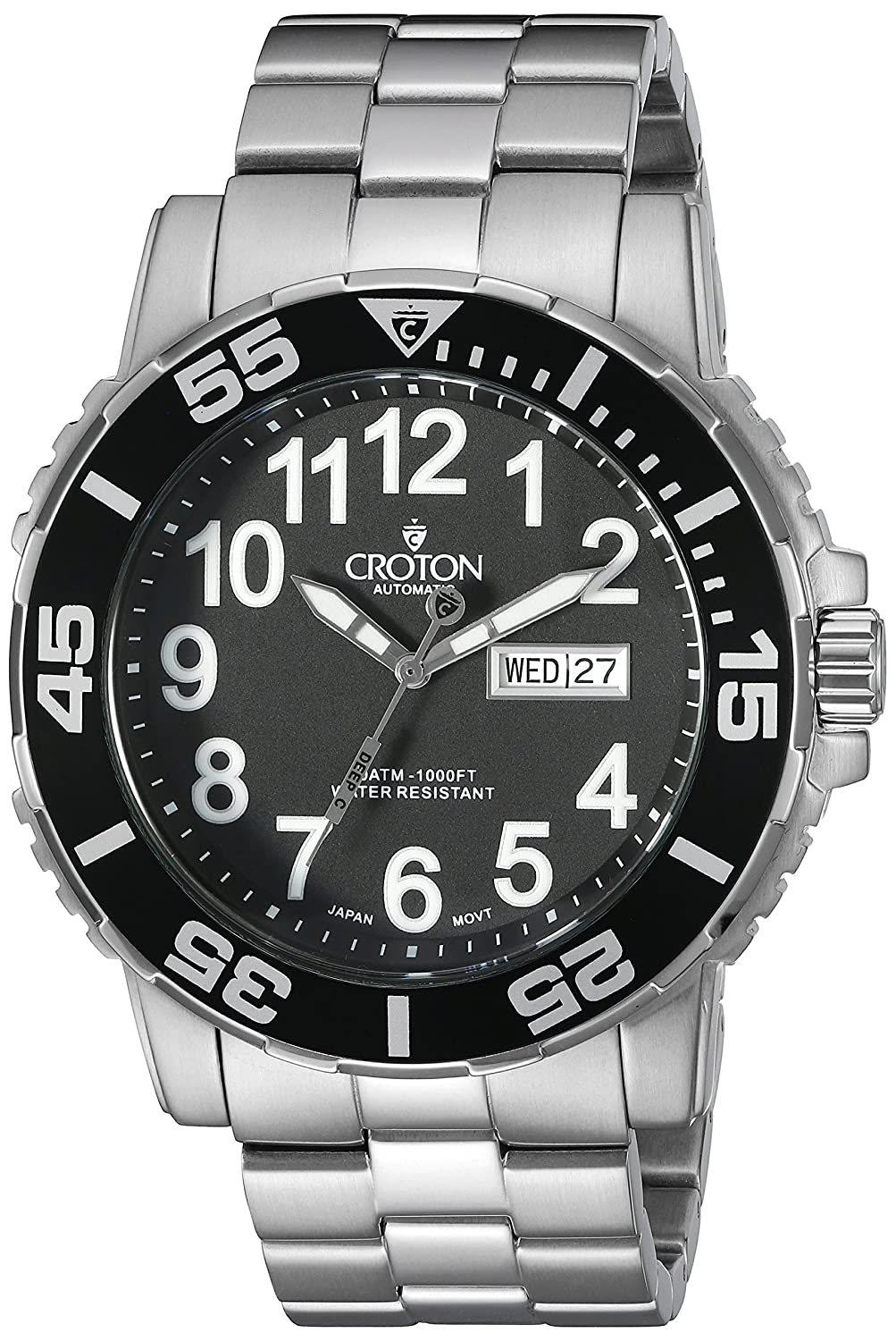 Amazon.com: CROTON Men's CA301281SSBK Analog Display Chinese Automatic  Silver Watch: Watches