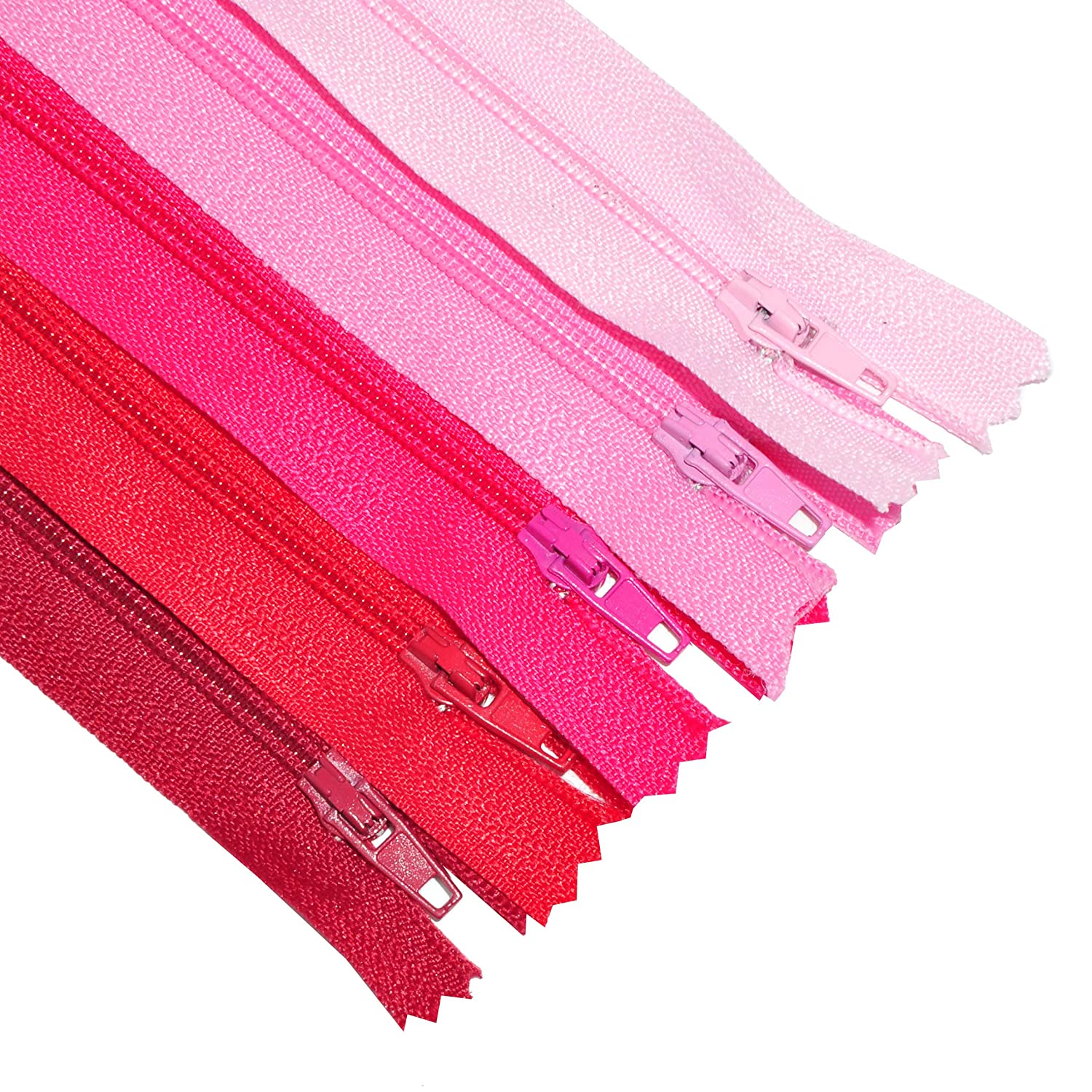 5 Inches 100 Count, 20 Assorted Colors Handbag Purse Making Wholesale Pack Clothing Mandala Crafts Colored Nylon Coil Zipper for Sewing