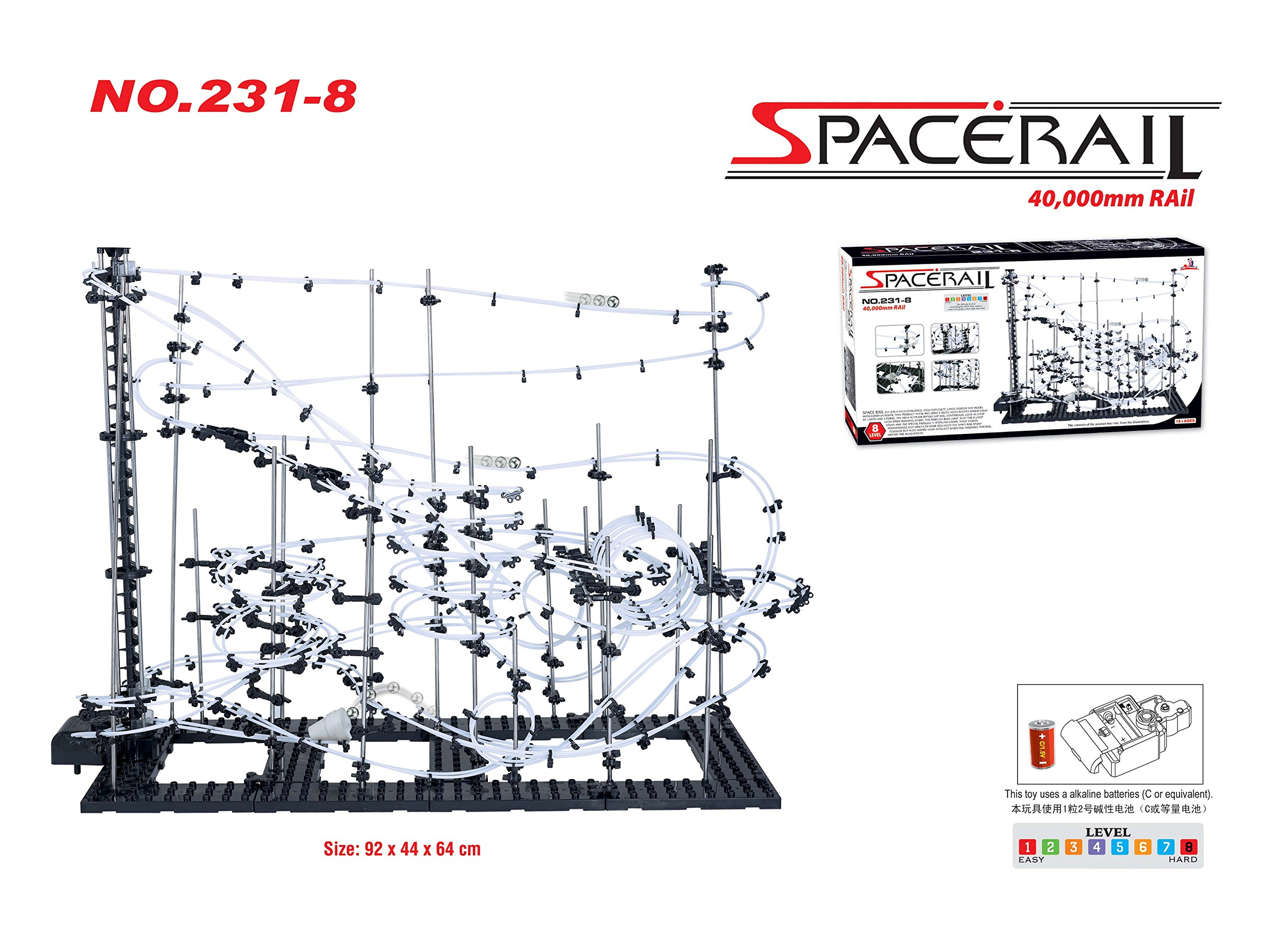 SpaceRail Level 8 Game, 40000mm