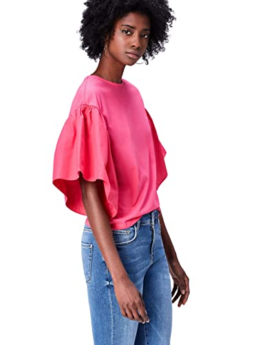 FIND Camiseta Corta con Cuello Redondo Mujer
