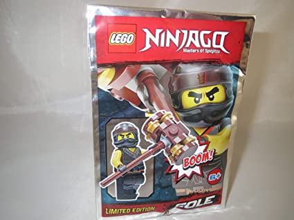 Lego NINJAGO Minifigur SAWYER mit Kettensäge Polybag limitiert
