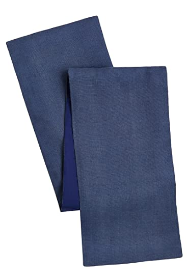 Cotton Craft Solid Color Jute Table Runner Blue 13x72   Made From  Eco Friendly Jute