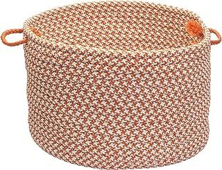 product image for Colonial Mills Indoor/Outdoor Houndstooth Storage Basket, Tangerine